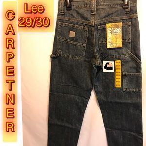 Lee Dungarees Carpenter Dark Blue Mens Jeans